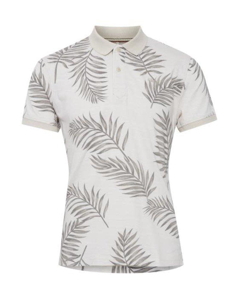 BLEND Grey Palm Leaf Print Polo
