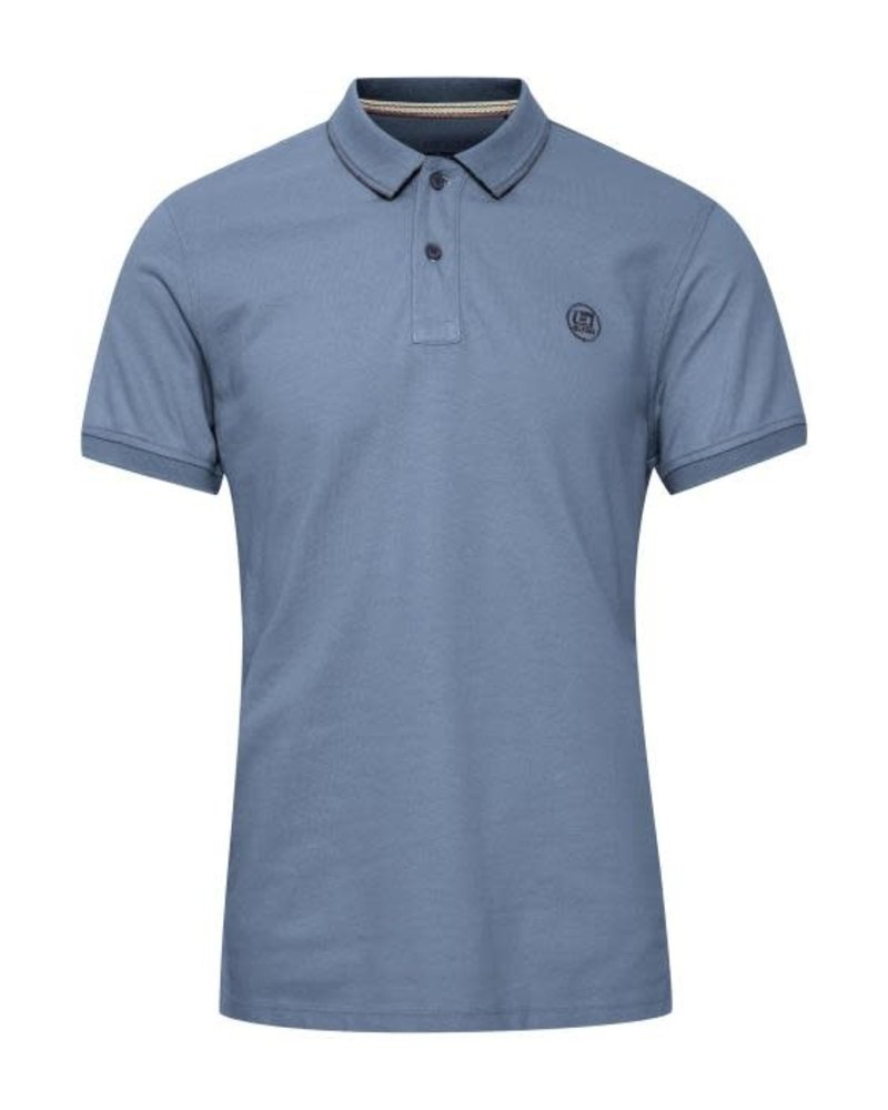 BLEND Knitted Solid Organic Cotton Polo