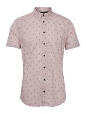 BLEND Slm Fit Mauve Palm Tree Shirt