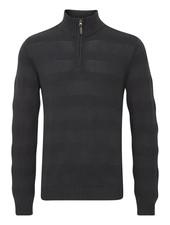 BLEND 1/4 Zip with Tonal Stripe Sweater
