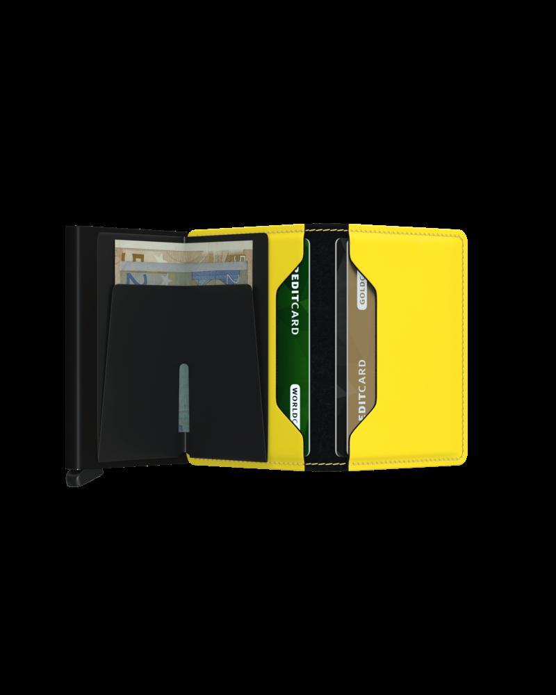 SECRID Matte Slimwallet Black & Yellow