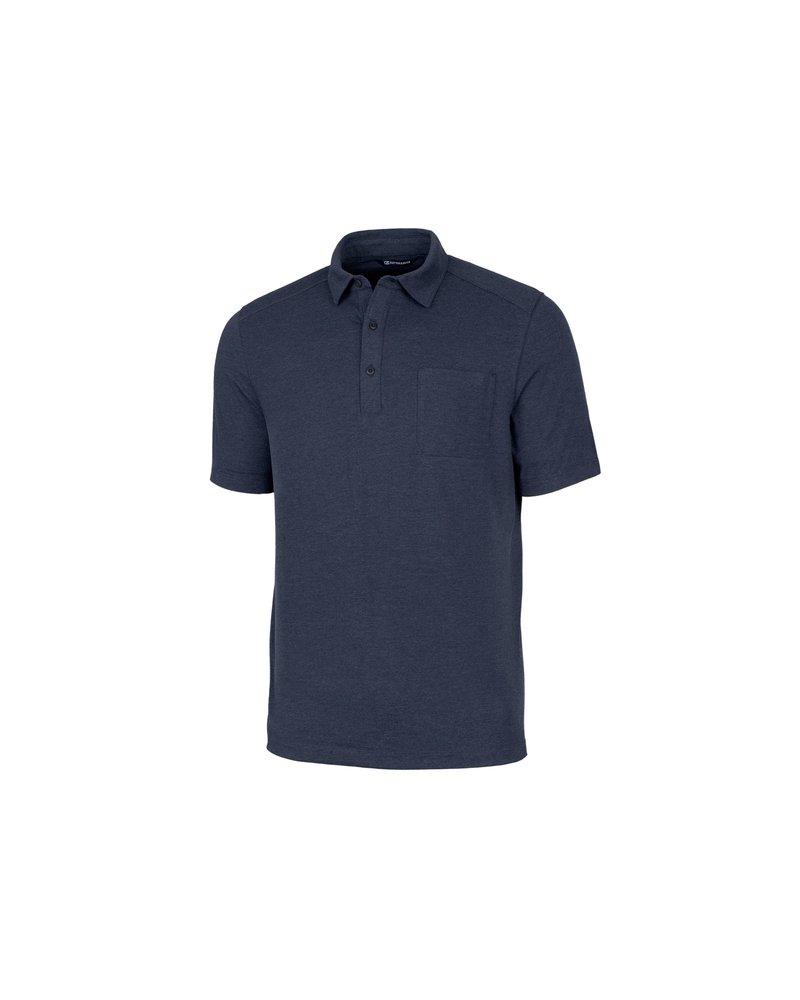 CUTTER & BUCK Classic Fit Tri-Blend Jersey Polo