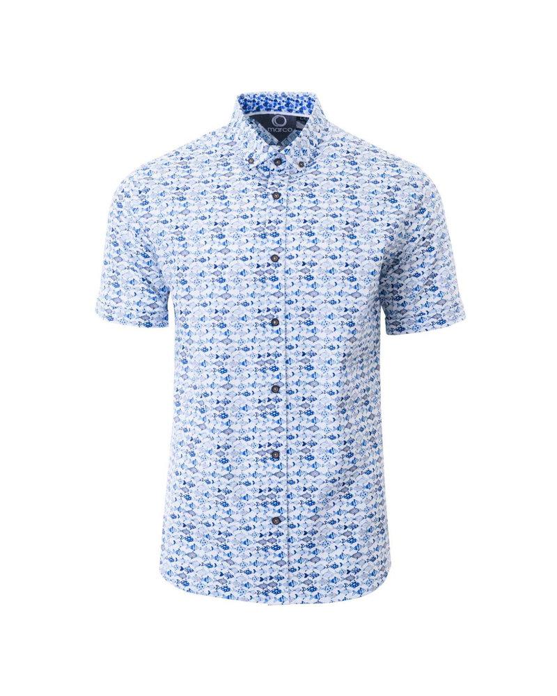 MARCO Modern Fit Fish Shirt