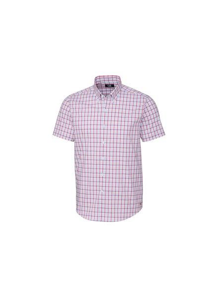 CUTTER & BUCK Classic Fit Windowpane Plaid Shirt