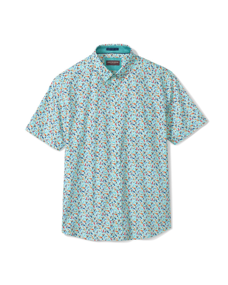 JOHNSTON & MURPHY Classic Fit Aqua Toucan Shirt