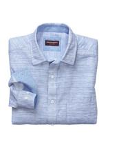 JOHNSTON & MURPHY Classic Fit Mini Blue Block Shirt