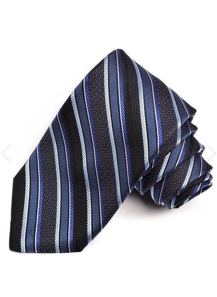 DION Navy Striped Silk Tie