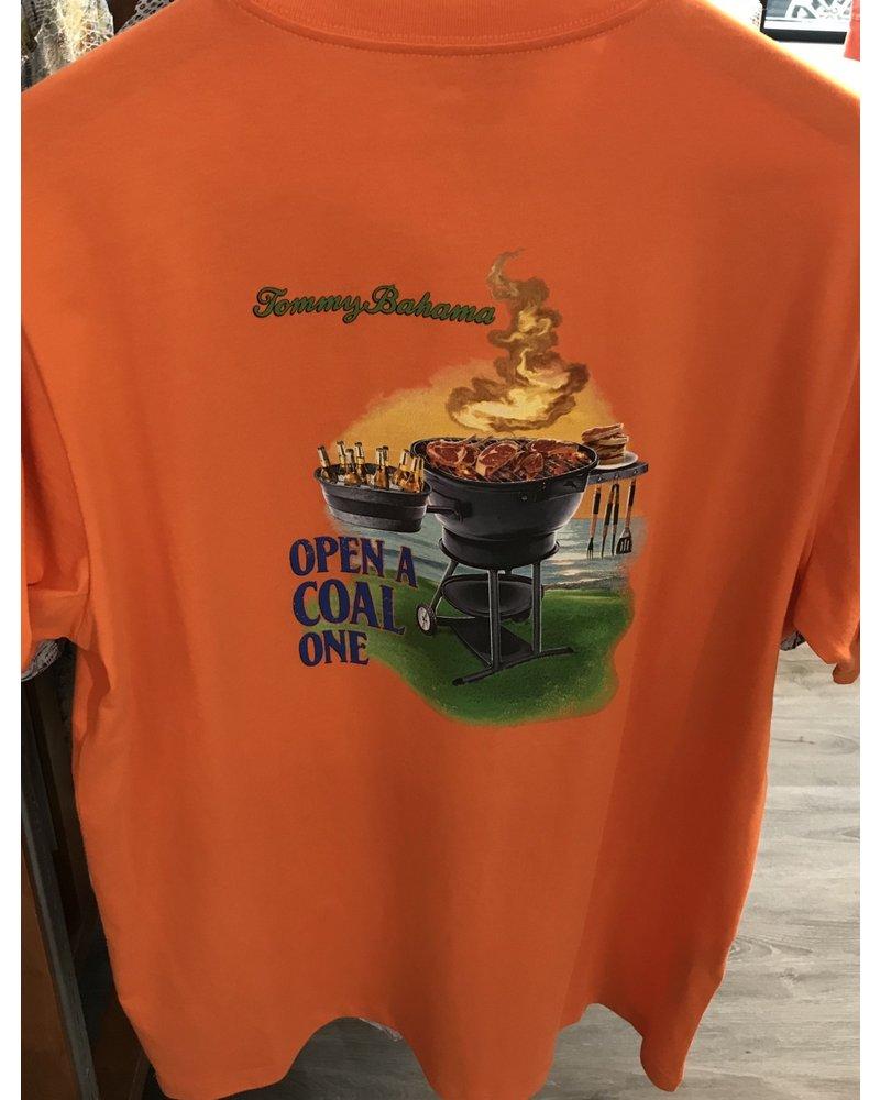 TOMMY BAHAMA Orange Open a Coal One T Shirt