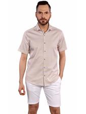 7 DOWNIE Modern Fit Small Floral Print Shirt