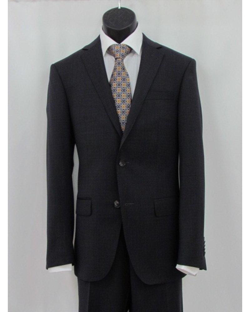 S COHEN Slim Fit Charcoal Neat Block Suit