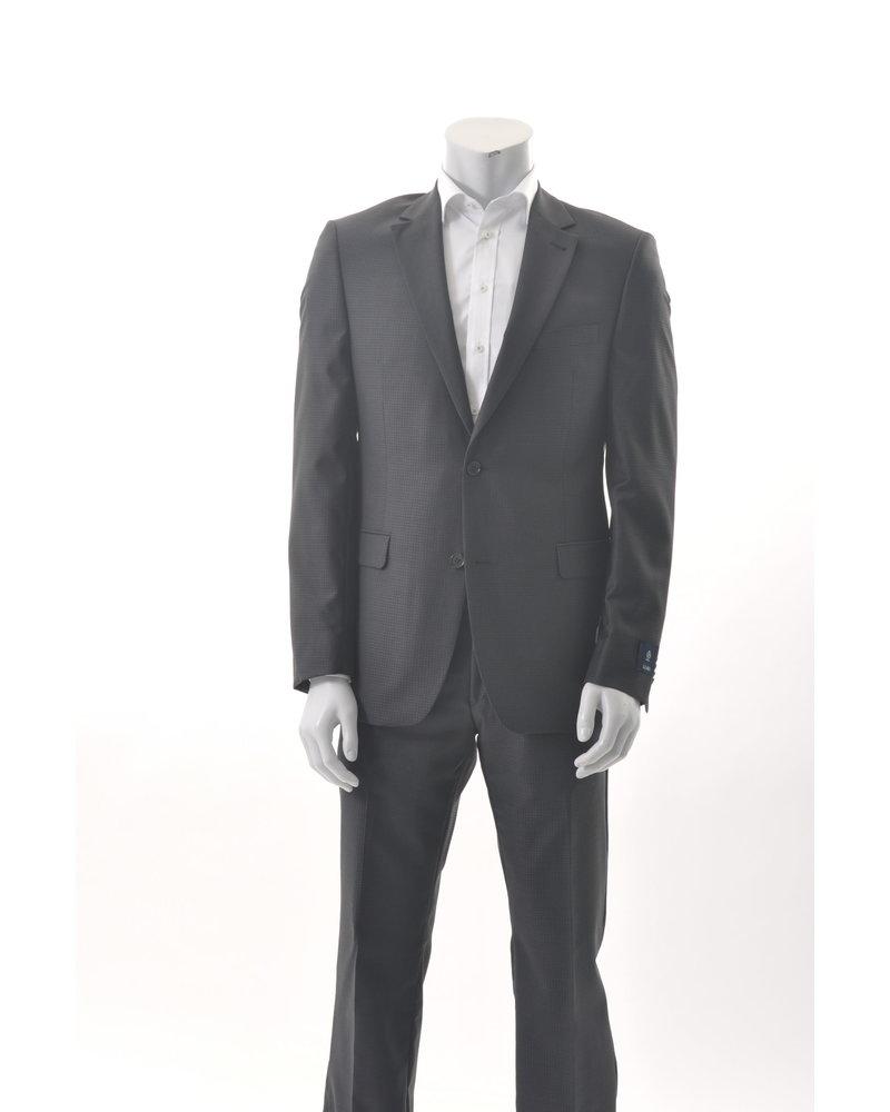 S COHEN Modern Fit Black Tonal Houndstooth Suit