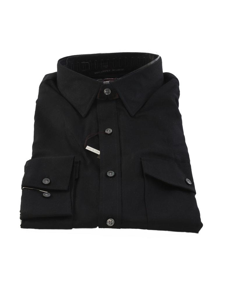 MICHAEL KORS Slim Fit Black 2 Pocket Shirt