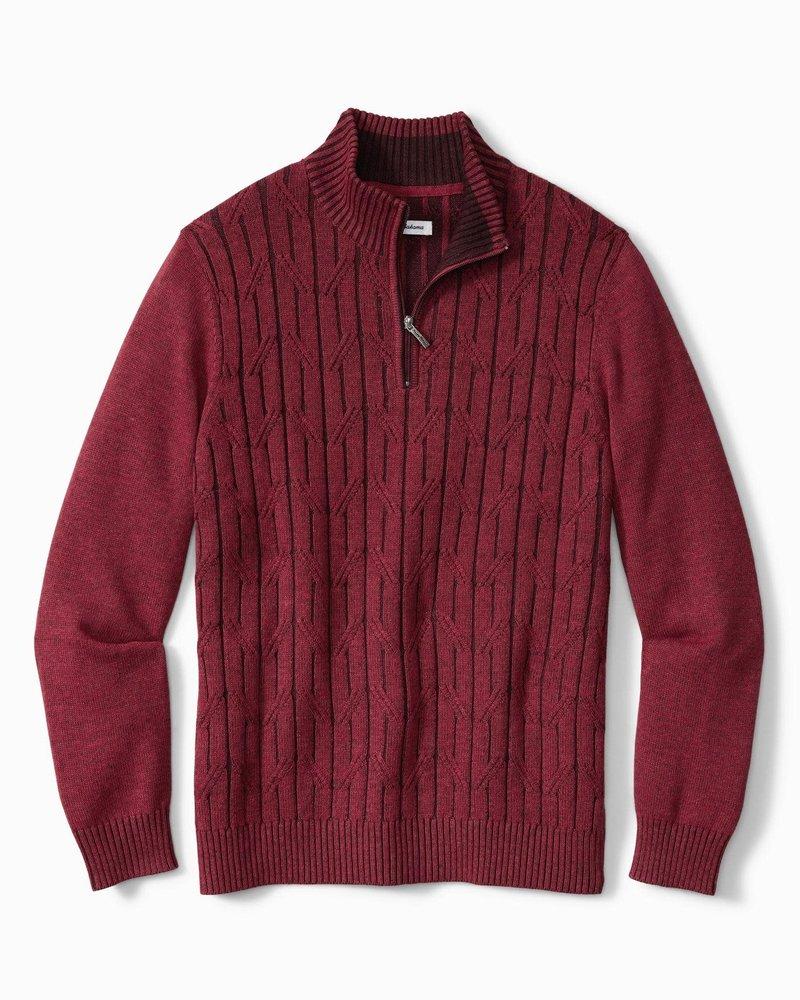 TOMMY BAHAMA Deep Sea 1/4 Zip Sweater
