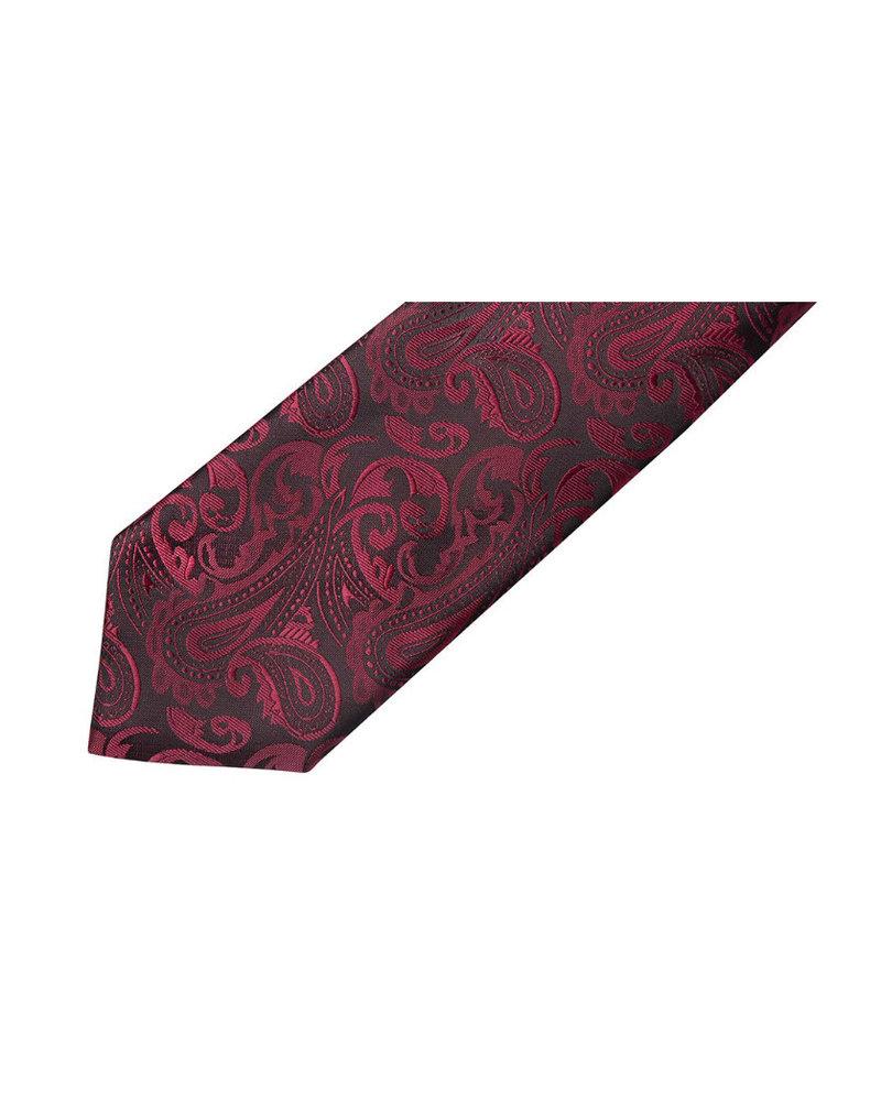 MONTEBELLO Black Burgundy Paisley Silk Tie