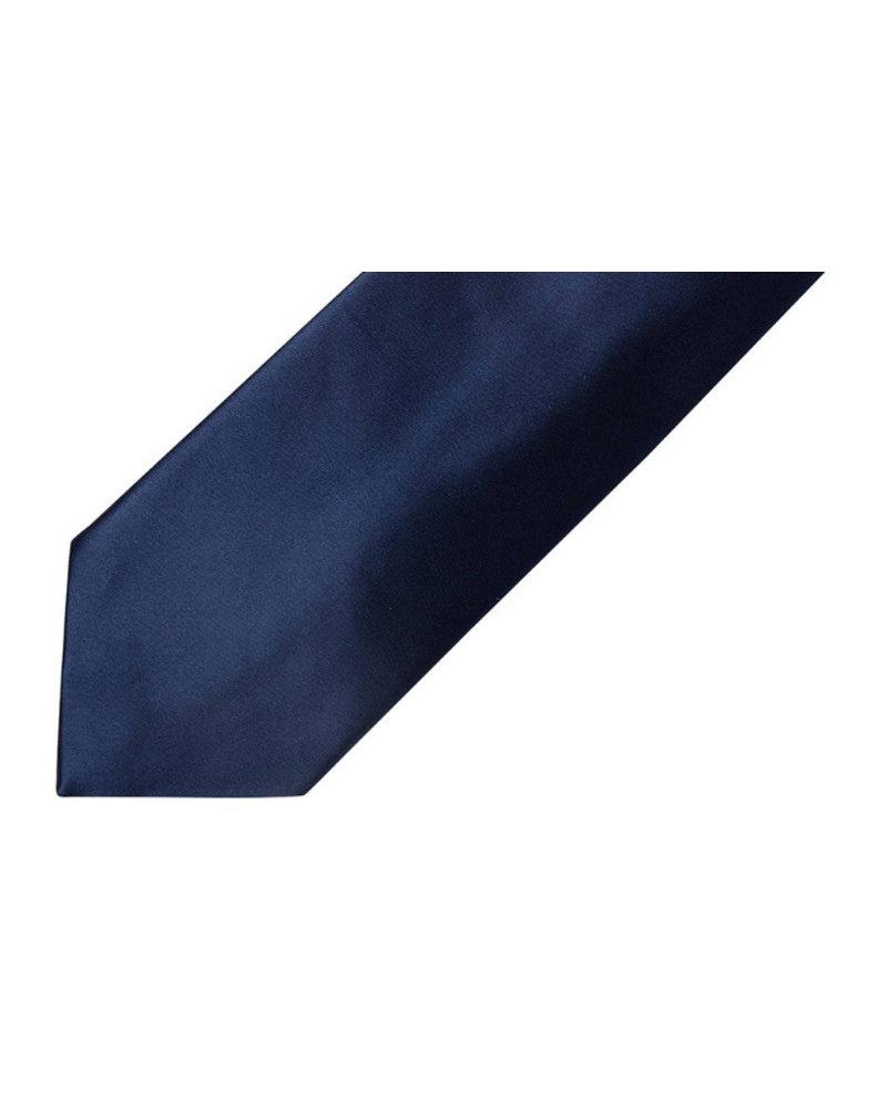 MONTEBELLO Navy Satin Silk Tie