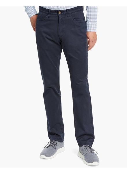 JOHNSTON & MURPHY Classic Fit Navy 5 Pocket Pant