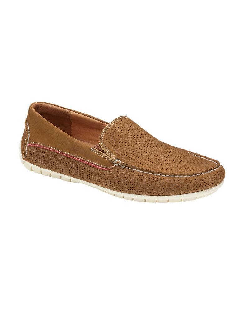 JOHNSTON & MURPHY Camel Nubuck Venetian Slip on Shoe