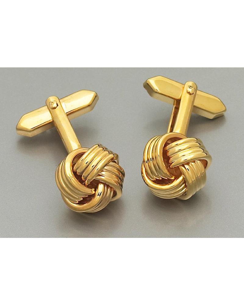 WEBER Gold Silk Knot Cufflinks
