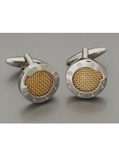 WEBER Silver with Gold Insert Cufflinks
