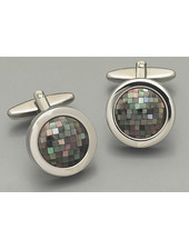 WEBER Silver with Mother of Pearl Cufflinks