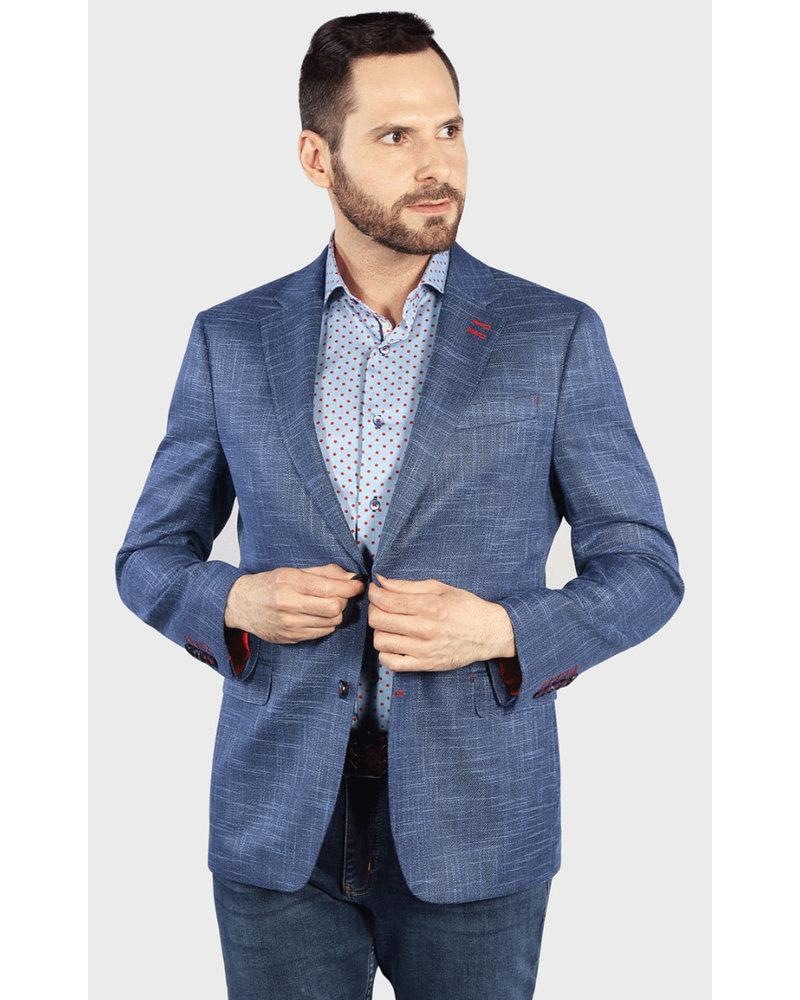 7 DOWNIE Modern Fit Blue Neat Pattern Sports Coat