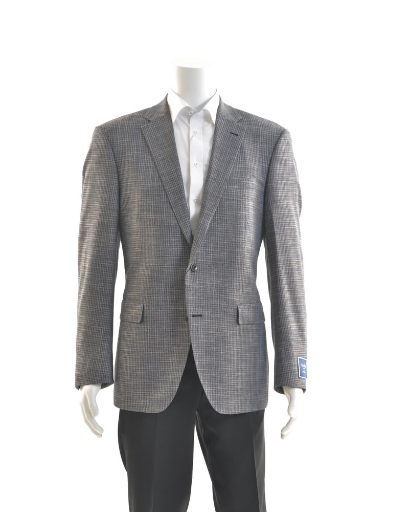 S COHEN Modern Fit Grey Blue Taupe Neat Sport Coat