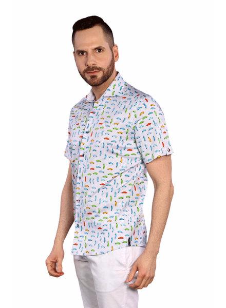 7 DOWNIE Modern Fit Car Shirt