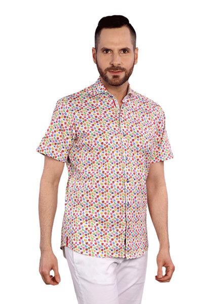 7 DOWNIE Modern Fit Bright Floral Shirt