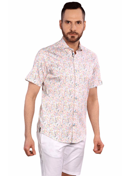7 DOWNIE Modern Fit Bright Squares Shirt