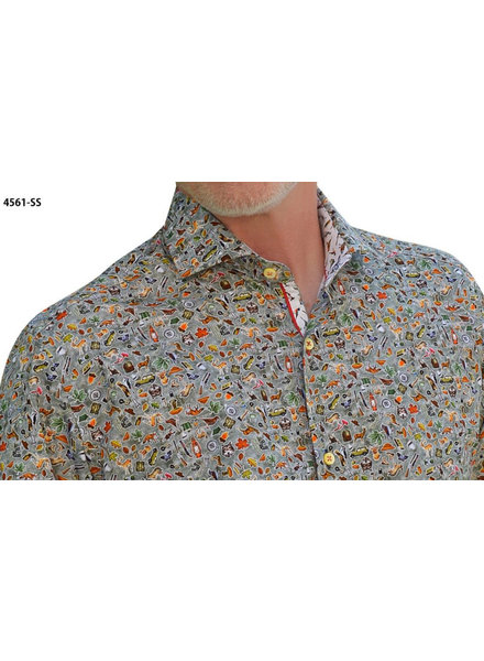 7 DOWNIE Modern Fit Green Canadian Shirt