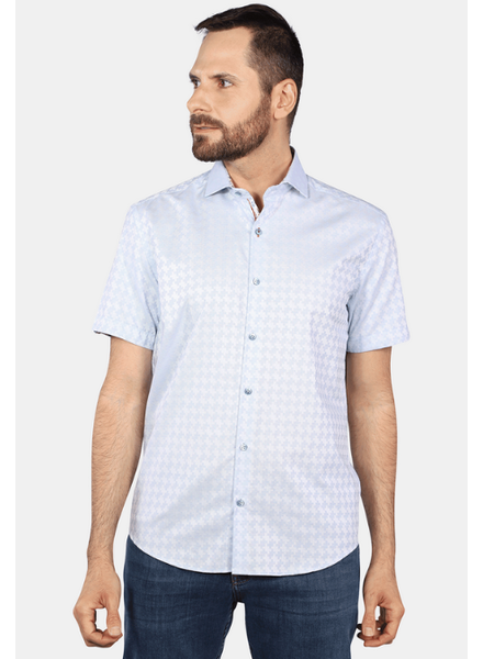 7 DOWNIE Modern Fit Light Blue Shirt