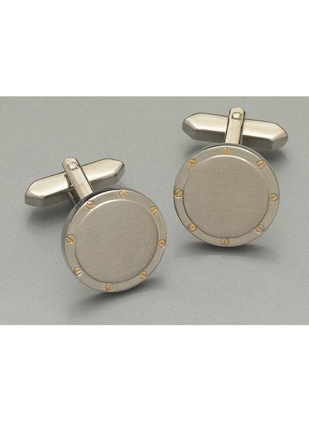 WEBER Silver Round Cuff Links