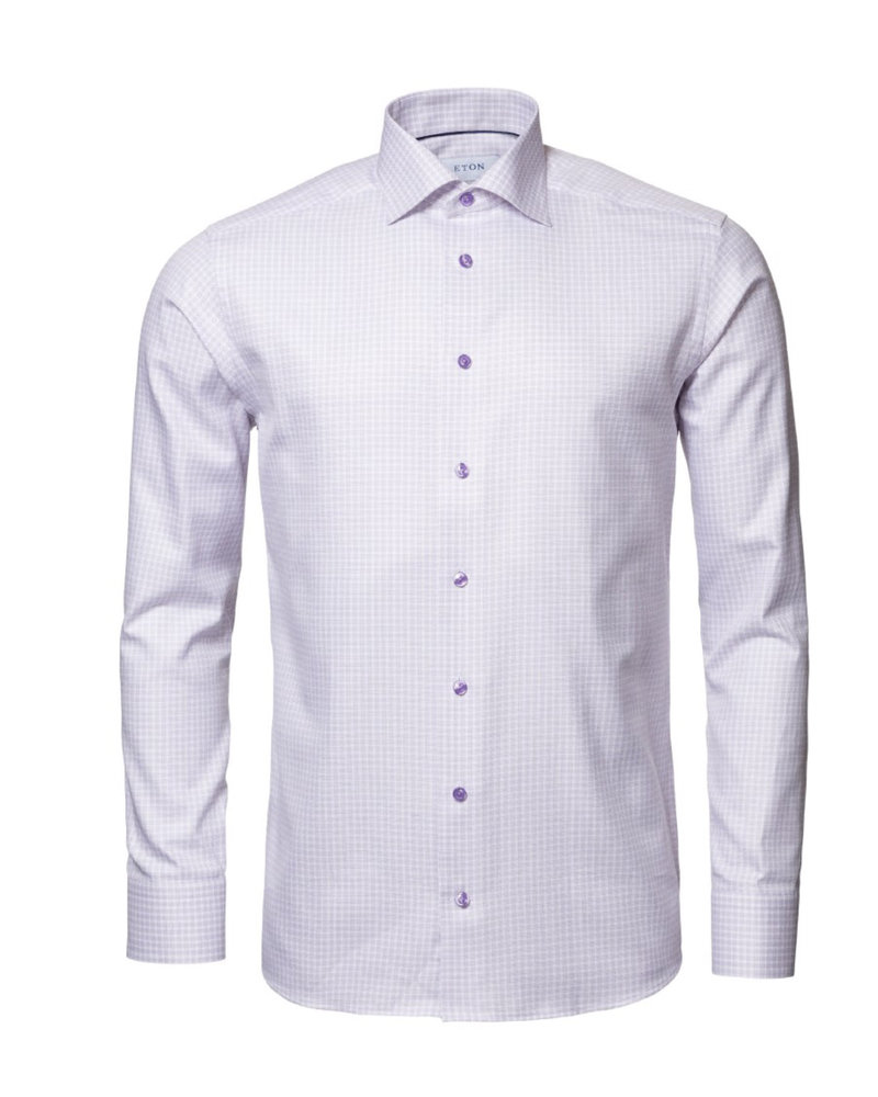 ETON Slim Fit Mauve Check Shirt