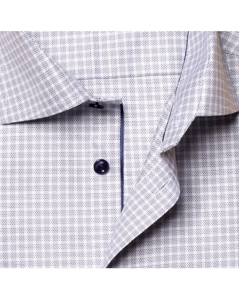 ETON Classic Fit Grey Block Dress Shirt