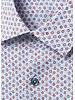 BUGATCHI UOMO Modern Fit Blue Orange Circle Print Shirt