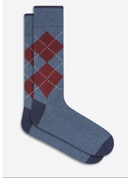 BUGATCHI UOMO Indigo Argyle Socks