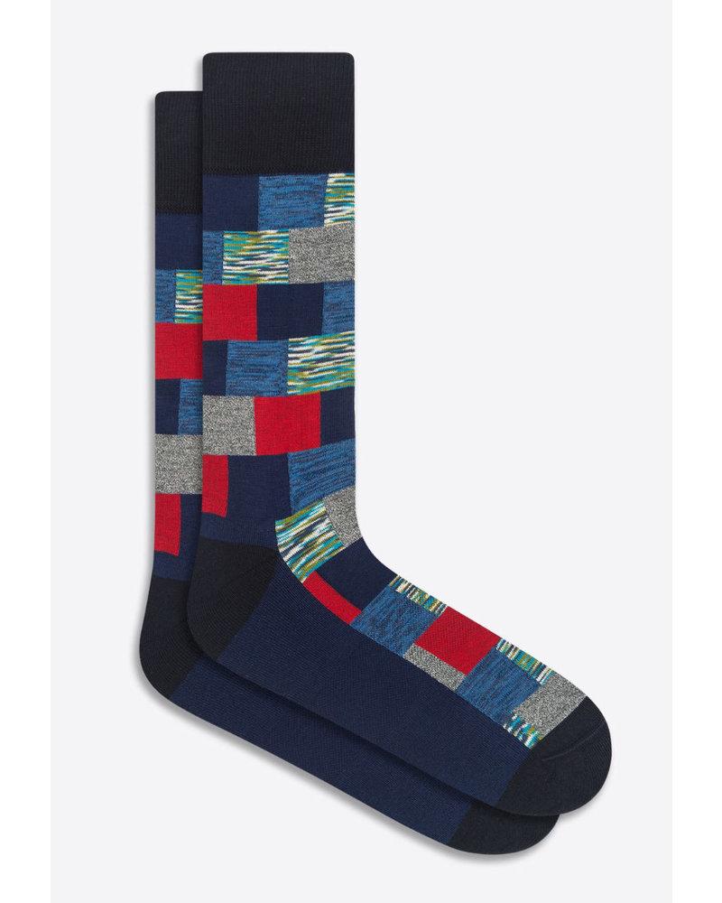 BUGATCHI UOMO Navy Patchwork Socks