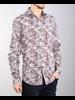 7 DOWNIE Modern Fit Brown Blue Floral Shirt