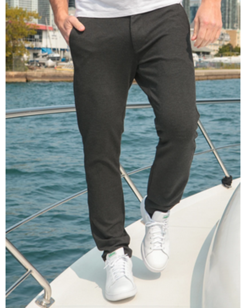7 DOWNIE Modern Fit Charcoal Jersey Pant