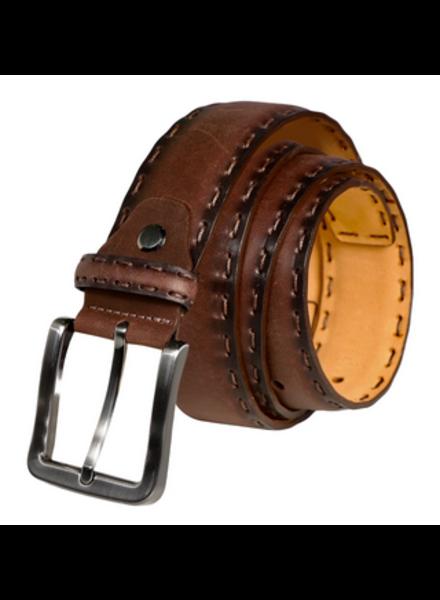 7 DOWNIE Brown Stitched Belt