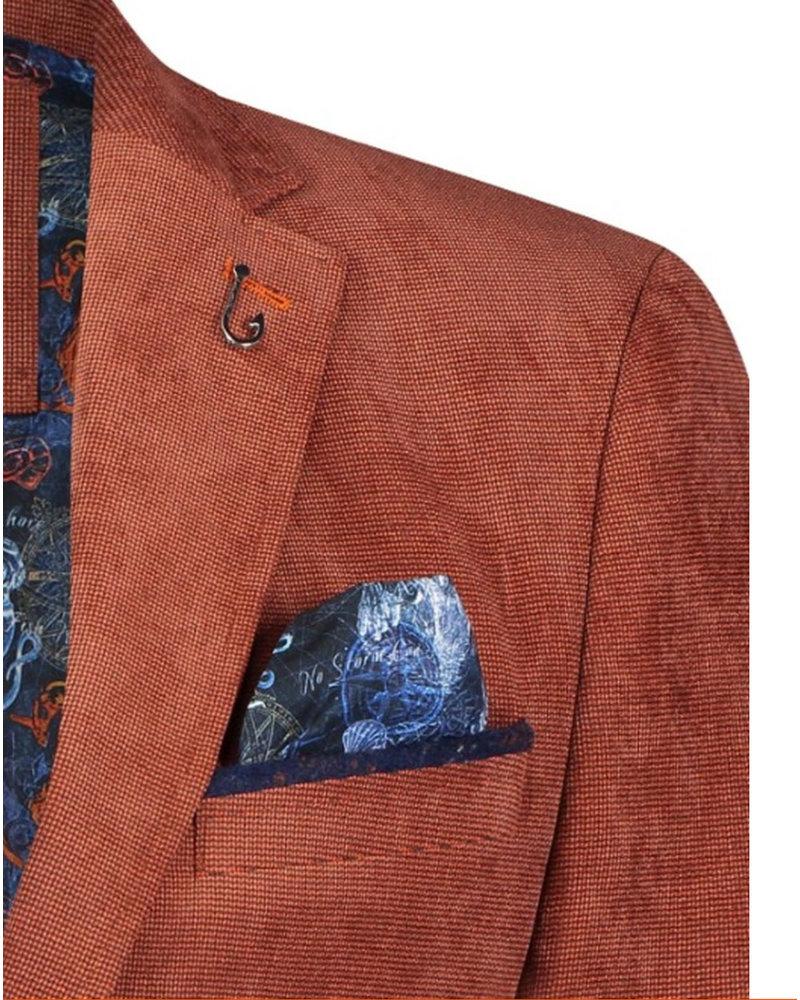 A FISH NAMED FRED Modern Fit Burgundy  Rib Cord Sport Coat