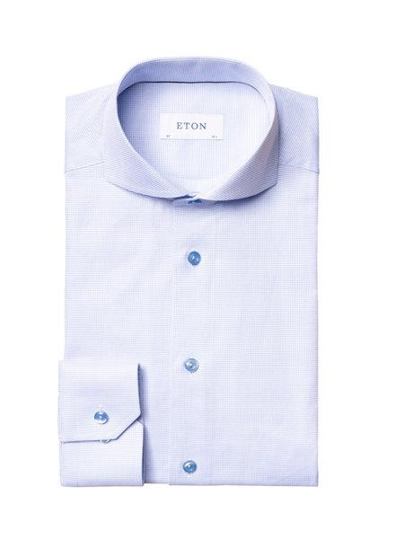 ETON Slim Fit Blue Neat Shirt