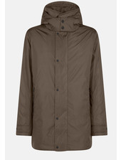 SAVE THE DUCK Coffee Brown Plumtech 3/4 Coat