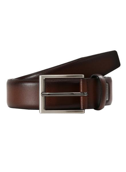 BUGATTI Leather Brown Dress Belt