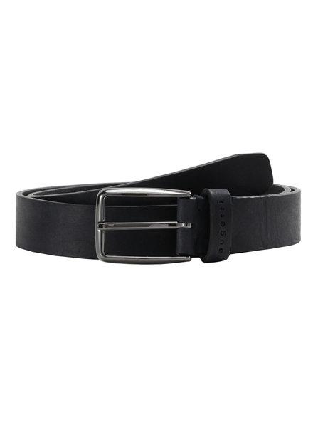 BUGATTI Leather Black Casual Belt