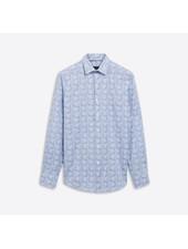 BUGATCHI UOMO Modern Fit Blue Paisley Shirt