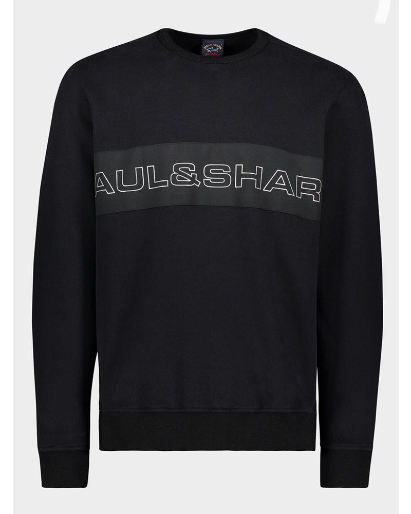 PAUL & SHARK Black Logoed Sweatsshirt