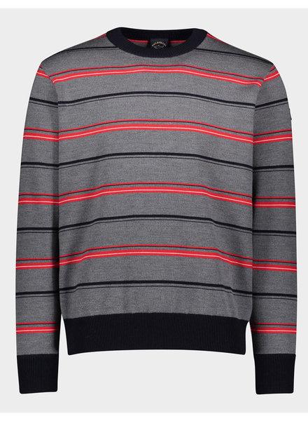 PAUL & SHARK Grey Striped Sweater