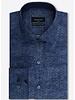 BUGATCHI UOMO Modern Fit Blue Zig Zag Shirt