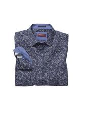 JOHNSTON & MURPHY Classic Fit Navy Paisley Print Shirt